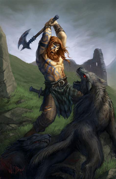 scottish warrior celtic barbarian by willobrien on deviantart