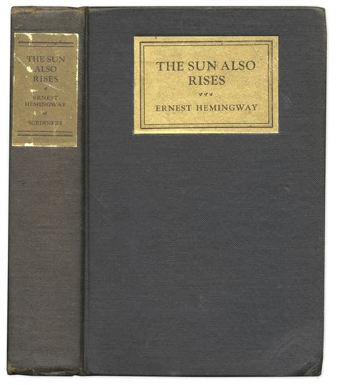 The Sun Is Also A Hardcover lot detail edition of ernest hemingway s the sun