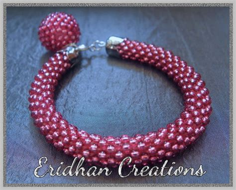 beaded crochet bracelet eridhan creations beading tutorials bezelled octagon