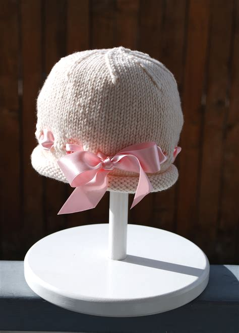 knit baby bonnet ribbon baby bonnet the piper s