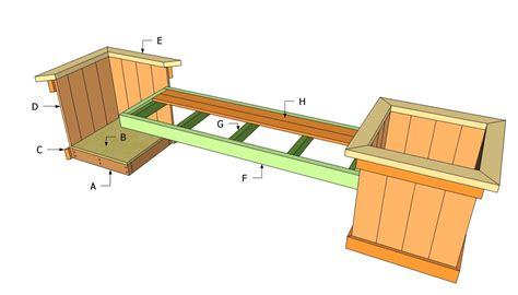 planter plans planter bench plans  outdoor plans