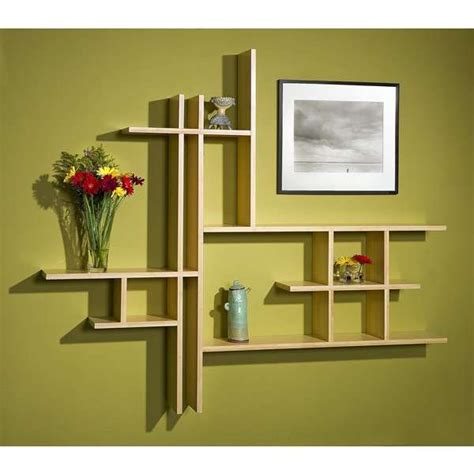 modern wall shelves design home design contemporary bamboo shelves design
