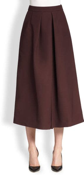 culottes tome 2 2075079846 tome wide leg culottes in red plum lyst