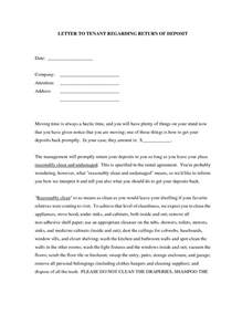 Demand Letter To Tenant For Damages Best Photos Of Regarding Security Deposit Return Letter