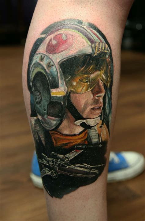 luke skywalker tattoo my new luke skywalker wars starwars