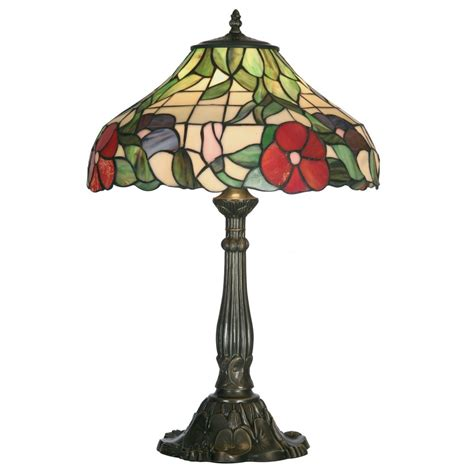 Ot1345 16tl tiffany peonies large table lamp