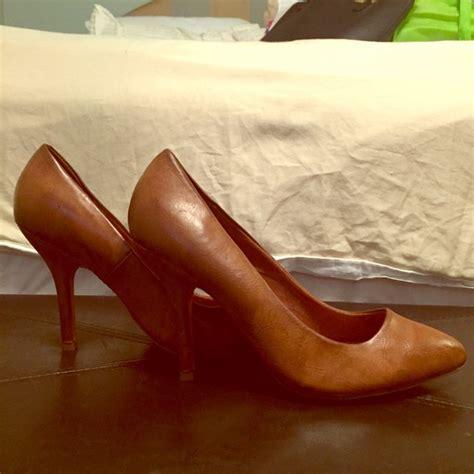 cognac colored heels 61 zara shoes zara cognac leather pumps from