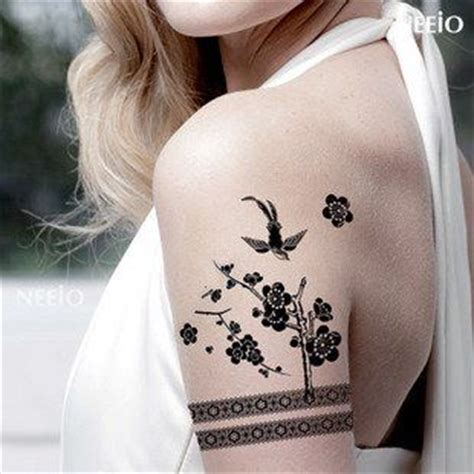 tattoo junkee free shipping waterproof tattoo stickers bird black and white arm legs