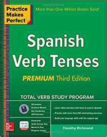practice makes perfect spanish 0071841857 amazon com practice makes perfect spanish verb tenses