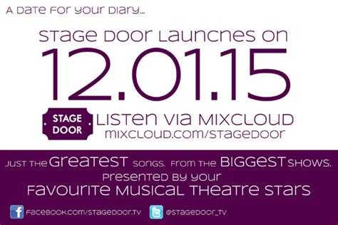 january 2012 stage door musical theatre radio station to launch january 2015