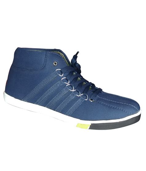 Casual In Navy Blue brandtrendz s navy blue casual canvas shoes buy