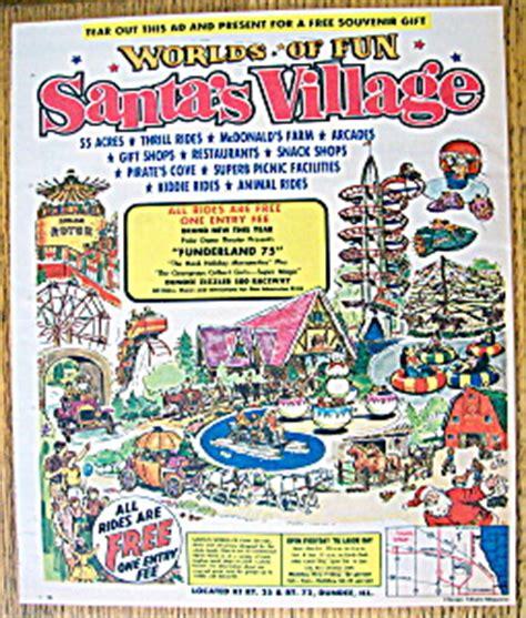 theme park advertisement vintage ad 1975 santa s village amusement park amusement