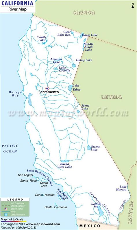 california map of rivers california river map maps mostly in