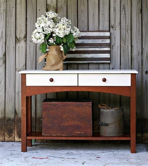 West Elm Inspired Sofa Table Project Petticoat Junktion West Elm Sofa Table