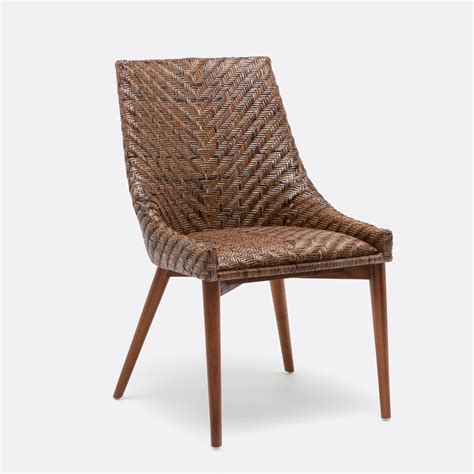 rattan wicker dining room chair banana leaf weave solid how to repair rattan dining chairs loccie better homes