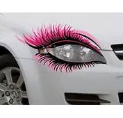 STICKER Pair Novelty Car Eyelash Eyelashes Extensions Headlight Pink