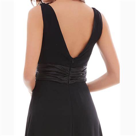 draped waist dress women s black sleeveless v neck beaded ruched waist draped