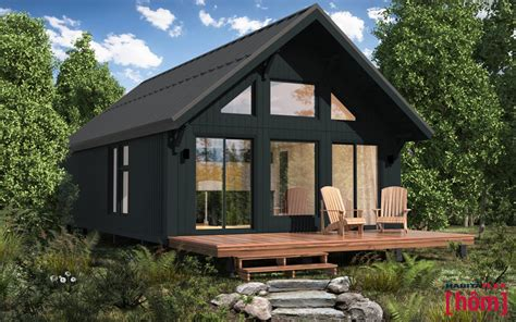 House Plans Cabin by Ext 201 Rieur 3d Habitaflex Chalet H 244 M