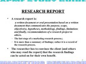 Market Research Project Report Sample Research Report Ppt