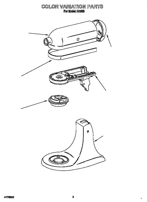 Kitchenaid Stand Mixer Parts Diagram images