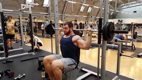 neck pain from bench press smith machine shoulder press behind the neck 143lbs 65kg