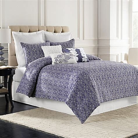 sonoma bedding sonoma quilted comforter set in blue bed bath beyond