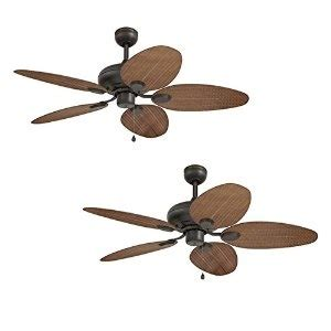 Ceiling Fan Discount by Discount Price Set Of 2 Harbor Tilghman 52 In Aged Bronze Outdoor Downrod Or Flush Mount