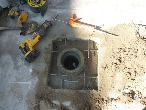 Clean Out Drain Installation Of Line Sewer Drain Clean Out Access In