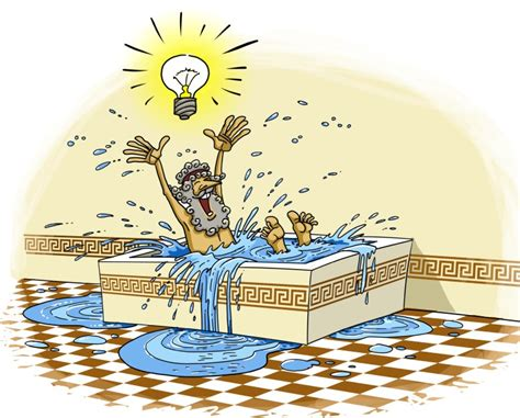 bathtub eureka do it like archimedes work smart not hard