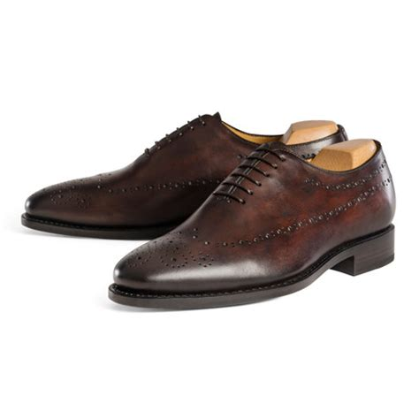 Handmade Brogues Uk - punched toe oxford chocolate uk 6 5 handmade