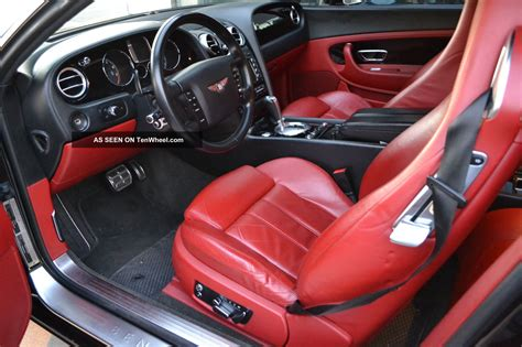 bentley black interior bentley continental coupe red