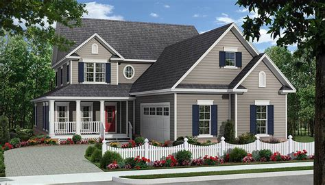 Two Story Courtyard House Plan 6382hd Architectural Two Covered Porches And Courtyard Garage 51111mm