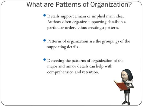 pattern of organization are recognizing patterns of organization