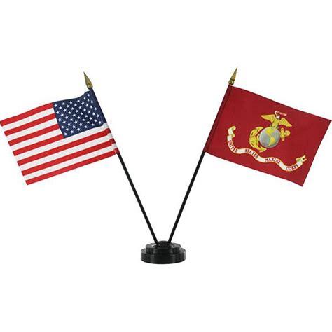 desk flag stand usmc and usa desktop flag set with stand vanguard