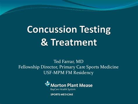 concussion testing treatment