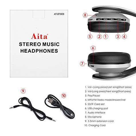 Vidvie Sport Wireless Earphone Bluetooth Bt809 wireless headphones aita bt809 on ear bluetooth noise cancelling headphones foldable headset
