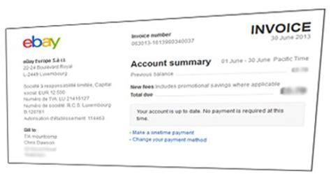 Sle Invoice Ebay | ebay update private seller fees tamebay