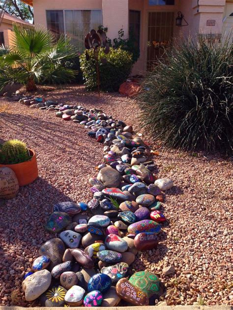 Painted Rocks For Garden 17 Best Images About Rock Yard On Pinterest River Rocks Front Yard Landscaping And Front Yards