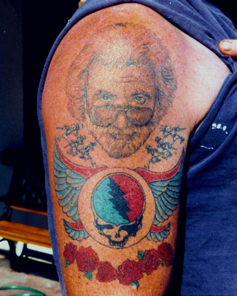 grateful dead tattoos jerry garcia and friends picture