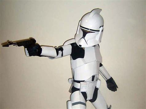 How To Make A Clone Trooper Helmet Out Of Paper - cardboard clone trooper is a clone technabob