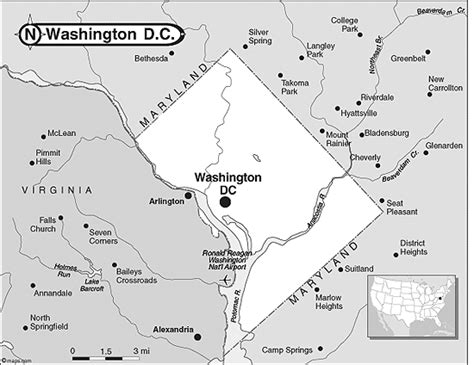 washington dc map silhouette district of columbia outline map by maps from maps