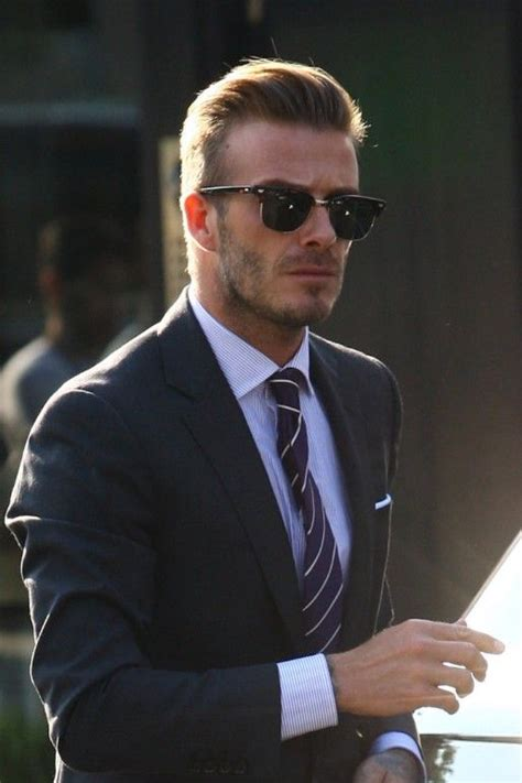 hairstyle matcher for men david beckham fashion icon approves of blue striped