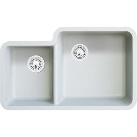 white composite kitchen sink white quartz composite 40 60 bowl undermount