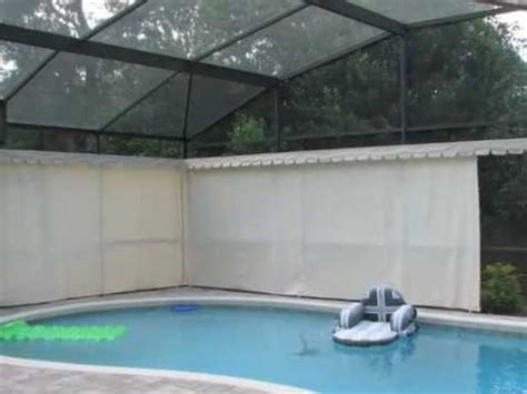 pool screen privacy curtains absolute outdoor privacy apopka fl youtube