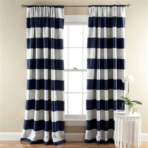 stripe blackout curtains stripe blackout window curtain set lush d 233 cor www