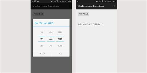 android date picker android datepicker exle ahotbrew android