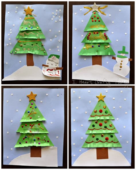 kids christmas tree craft i heart crafty things