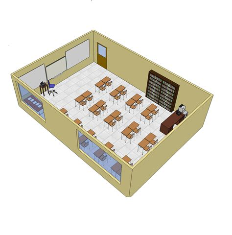 Online Floor Plans Drawing Free 3d sketchup school classroom layout cadblocksfree cad