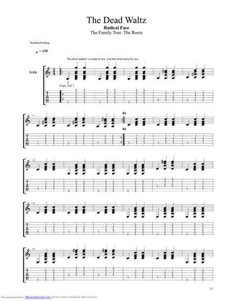 the dead waltz guitar pro tab by radical