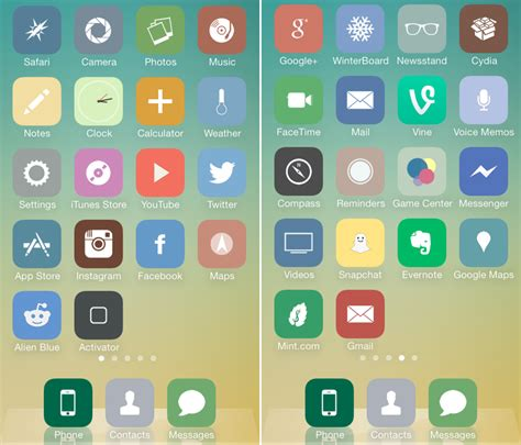 icon design jailbreak stayclassy is a flat and gentle theme for iphone